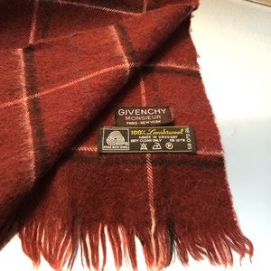 Men's vintage 100% lambswool Givenchy scarf